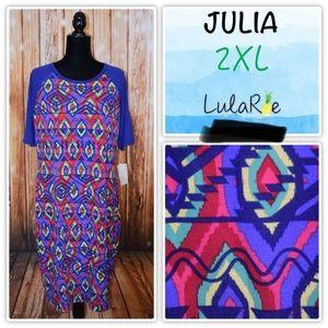 Lularoe Julia Women's 2XL Purple Red Dress NWT